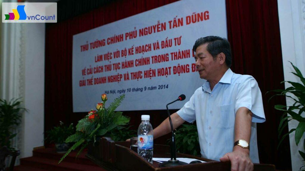 bộ trưởng Bộ KH&ĐT Bùi Quang Vinh tiếp thu ý kiến chỉ đạo tại cuộc họp
