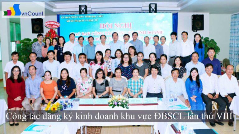 công tác đăng ký kinh doanh khu vực ĐBSCL lần thứ VIII