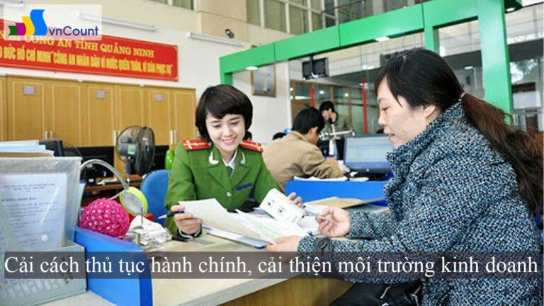 cải cách thủ tục hành chính cải thiện môi trường kinh doanh