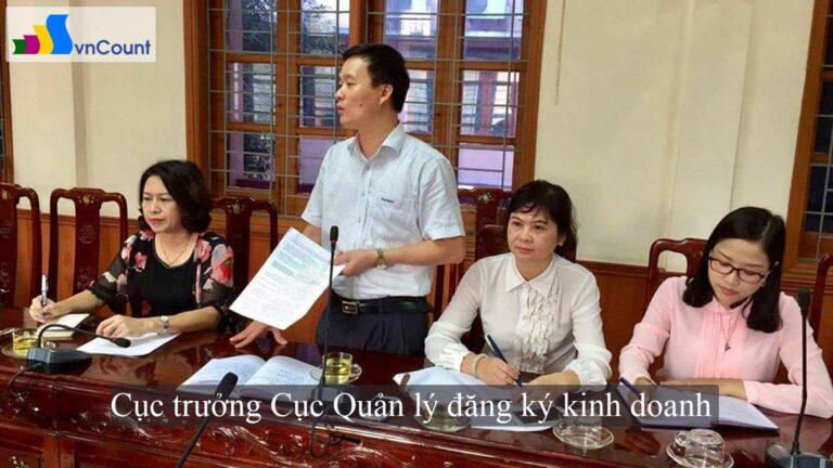 cục trưởng cục quản lý đăng ký kinh doanh làm việc tại Nghệ An