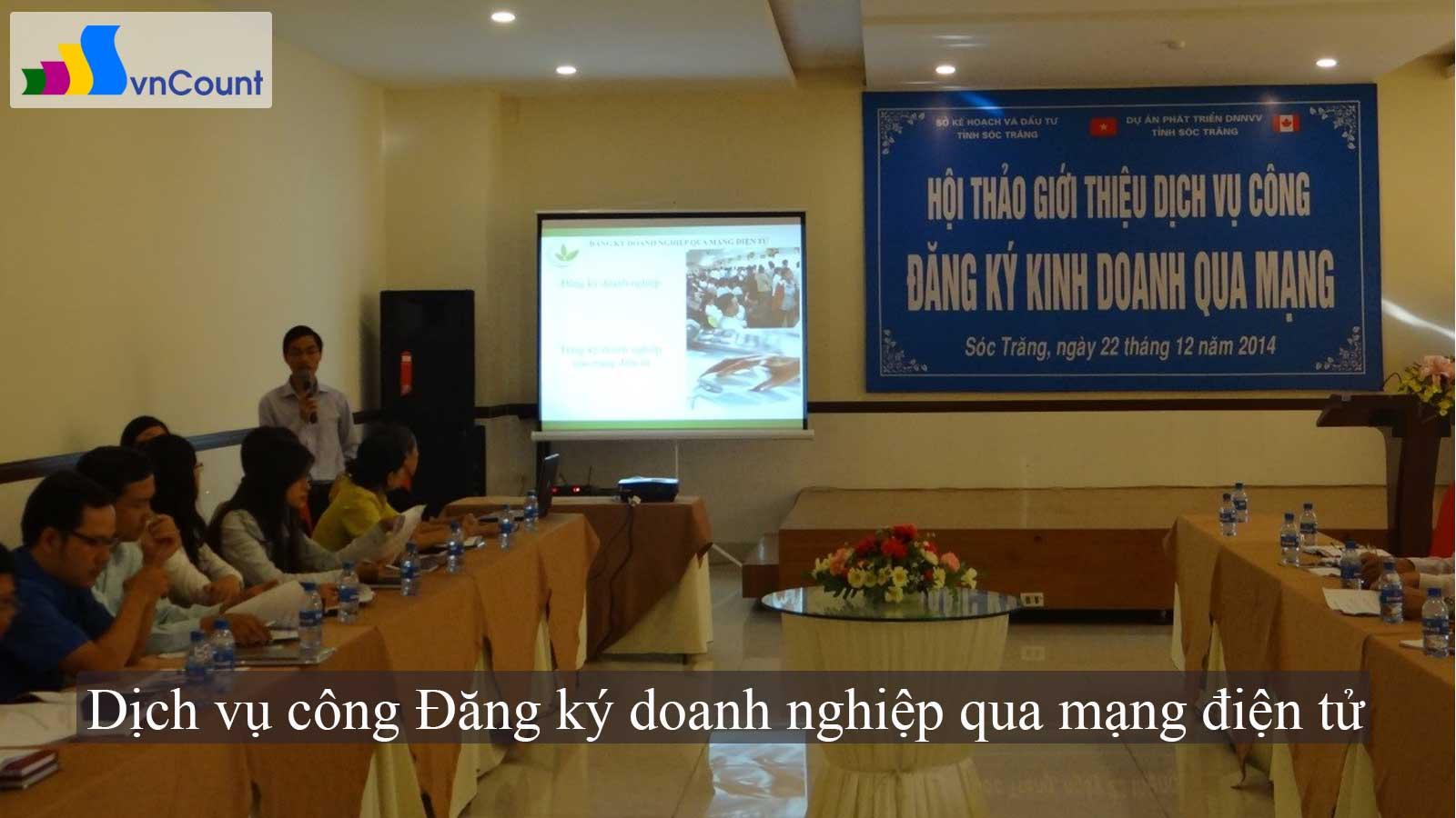 dịch vụ công đăng ký doanh nghiệp qua mạng điện tử tại Sóc Trăng