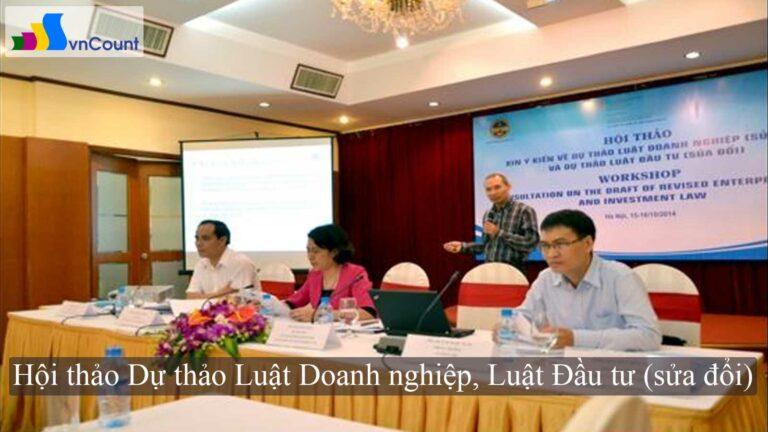 dự thảo luật doanh nghiệp luật đầu tư sửa đổi
