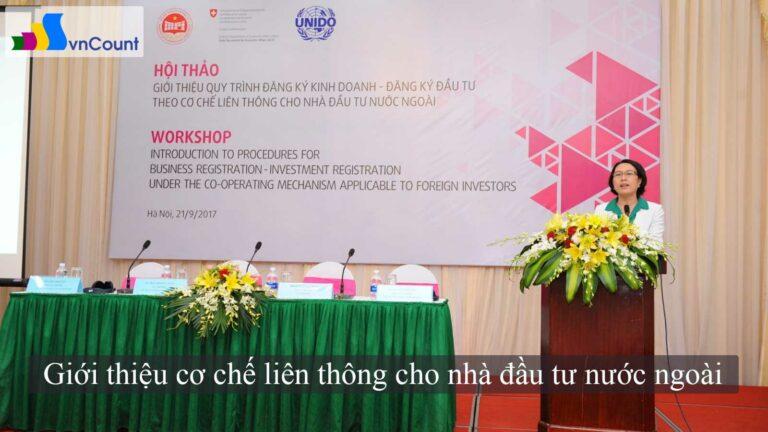 giới thiệu cơ chế liên thông cho nhà đầu tư nước ngoài