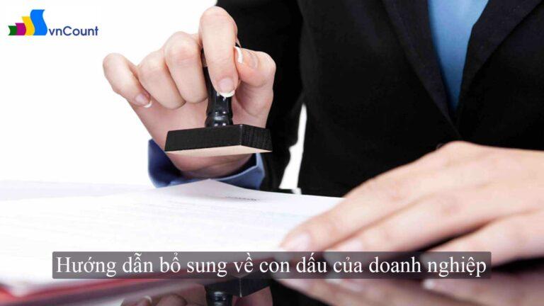 hướng dẫn bổ sung về con dấu của doanh nghiệp