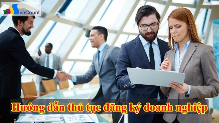 hướng dẫn thủ tục đăng ký doanh nghiệp