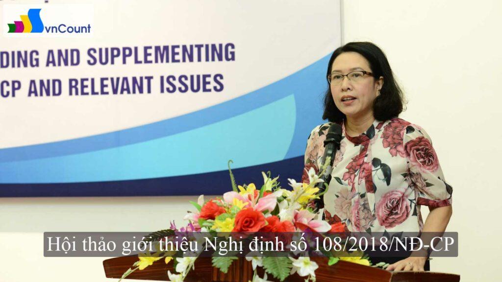 Hội thảo giới thiệu Nghị định số 108/2018/NĐ-CP