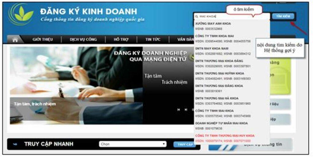 màn hình hiển thị kết quả trước khi chọn chức năng tìm kiếm tức thì hoặc tìm kiếm nâng cao