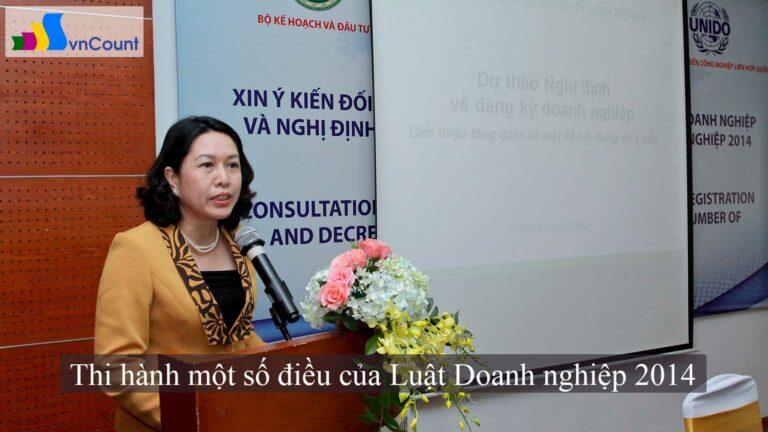 nghị định hướng dẫn thi hành một số điều của Luật Doanh nghiệp 2014