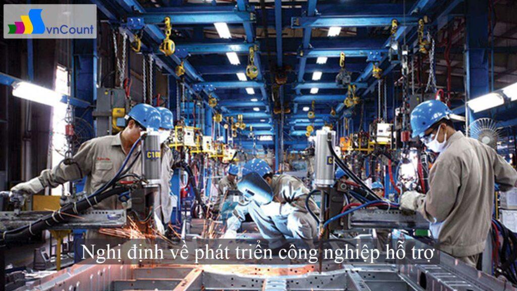 nghị định về phát triển công nghiệp hỗ trợ