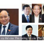 nhiệm vụ cụ thể của Thủ tướng và các Phó Thủ tướng
