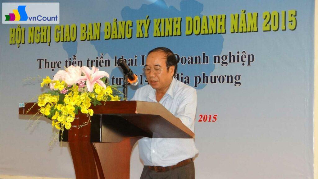 phó Giám đốc Sở Kế hoạch và Đầu tư Sóc Trăng phát biểu khai mạc