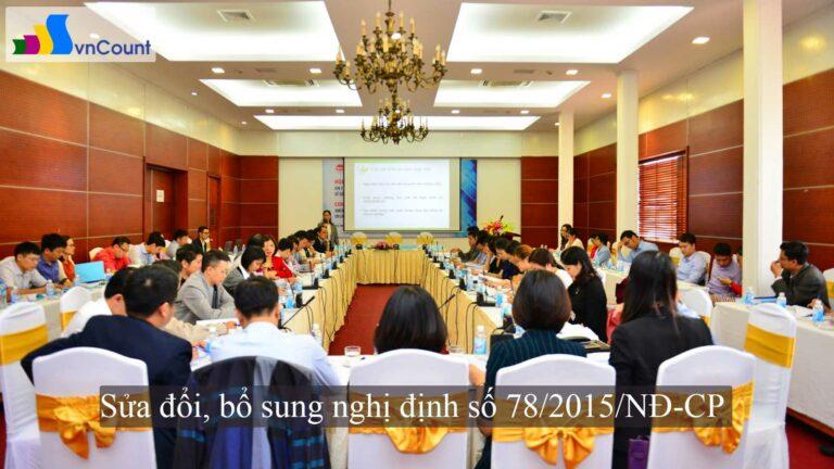 sửa đổi bổ sung nghị định số 78 2015 NĐ CP về đăng ký doanh nghiệp