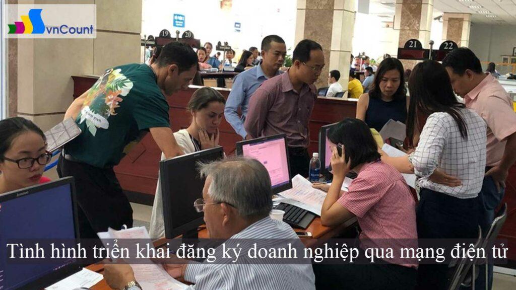 tình hình triển khai đăng ký doanh nghiệp qua mạng điện tử
