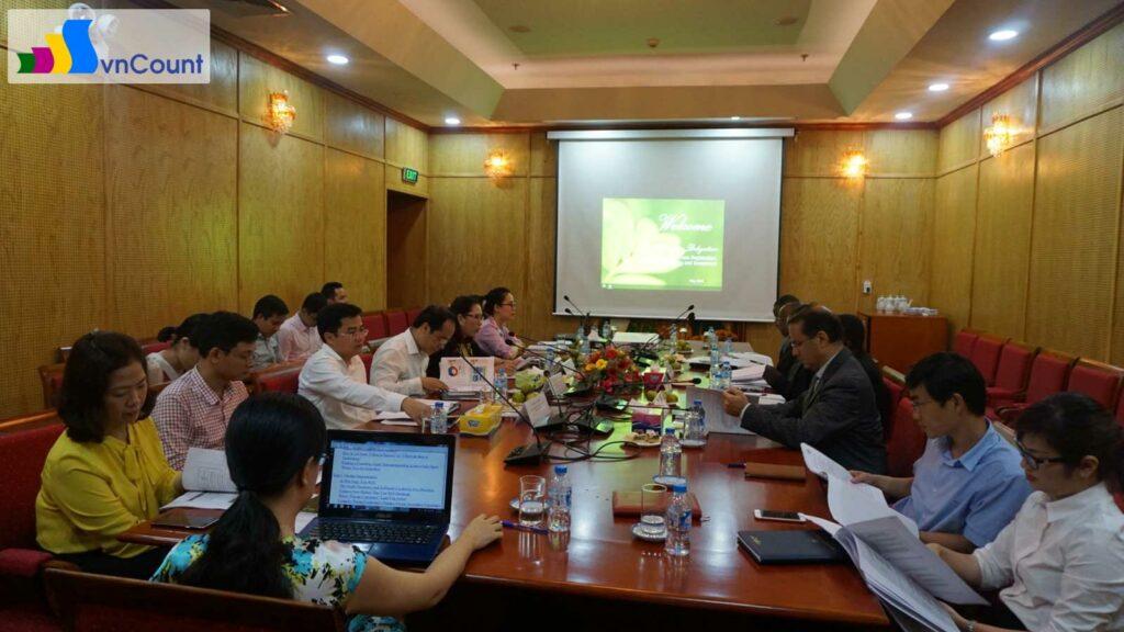 toàn cảnh cuộc họp giữa Cục Quản lý đăng ký kinh doanh và Đoàn Tanzania