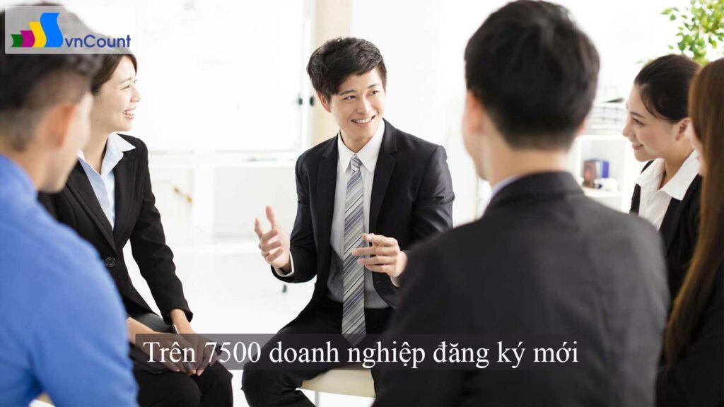 trên 7500 doanh nghiệp đăng ký mới