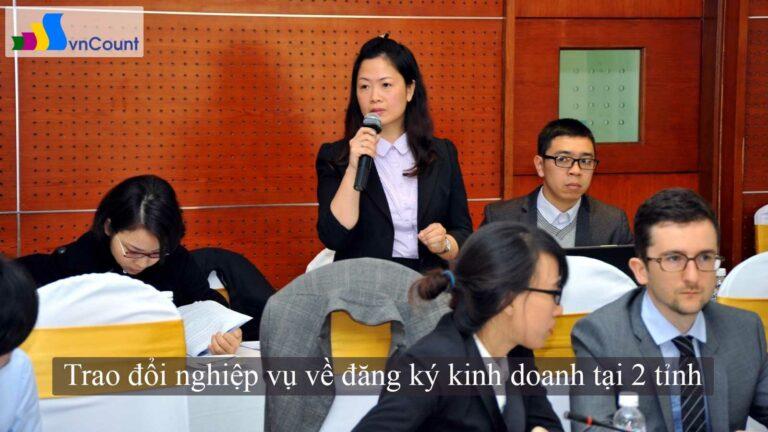 trao đổi nghiệp vụ về đăng ký kinh doanh tại 2 tỉnh