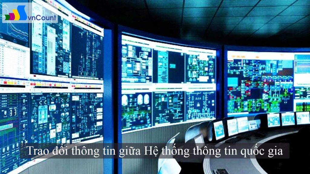 trao đổi thông tin giữa Hệ thống thông tin quốc gia