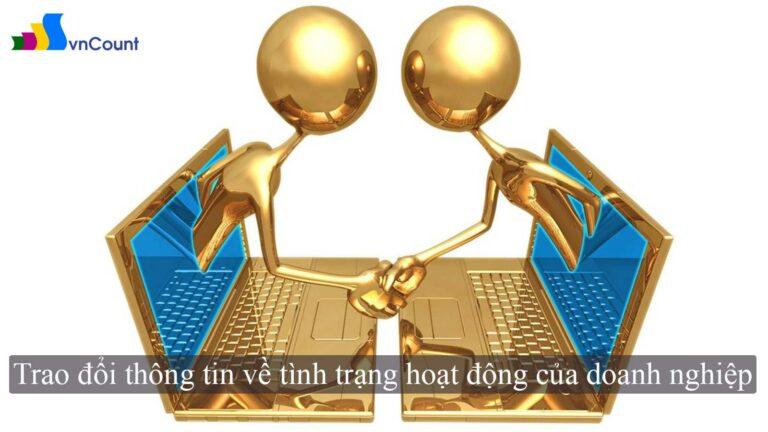 trao đổi thông tin về tình trạng hoạt động của doanh nghiệp