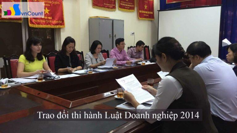 trao đổi thi hành Luật Doanh nghiệp 2014