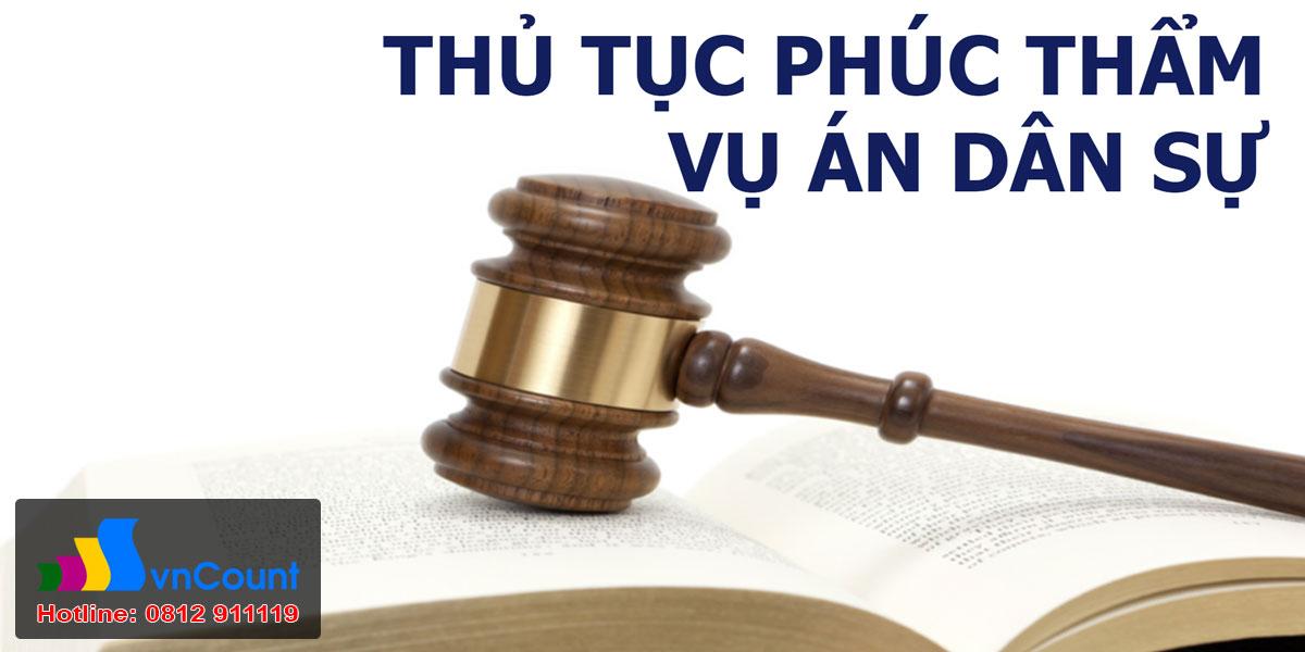 thủ tục phúc thẩm vụ án dân sự